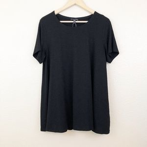 Eileen Fisher Black Short Sleeve Jersey Tunic